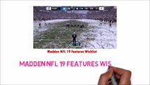 Madden NFL 19 Features Wishlist