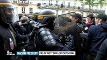 """""""Le Petit Journal"""" : un reporter se prend un coup de matraque lors de la manif anti-Macron !"""