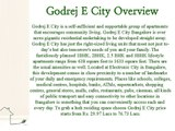 Buy Apartments from Godrej E City in Bangalore by Godrej Group