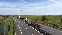 Poids lourd renversé sur l'autoroute A28 mercredi 10 mai 2017