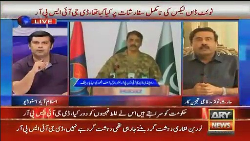 Verbal repetition between Senior Analyst Arshad Sharif And Defence Analyst Haris Noor