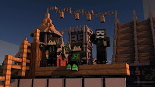 YOUTUBERLAR KAPIŞIYOR !!! - Minecraft Yapı Kapışması