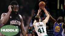 Is James Harden CHOKING vs Spurs? Draymond Green & Isaiah Thomas FIGHT Over Kelly Olynyk -The Huddle