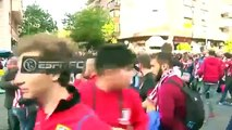 Atletico Madrid fans clash with local police before semi vs Real Madrid - 10-05-2017