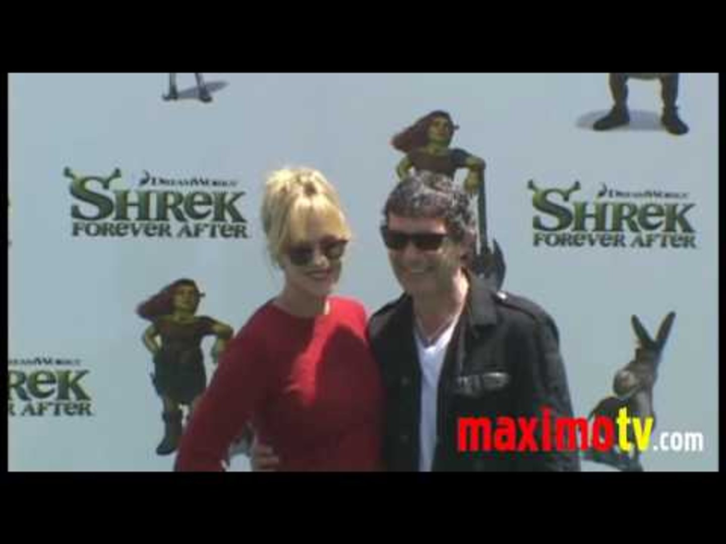 Antonio Banderas And Melanie Griffith At Shrek Forever After Los Angeles Premiere May 16 2010 Video Dailymotion