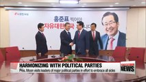 Moon Jae-in meets with leaders of major political parties