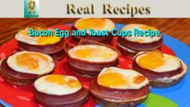 Bacon Egg and Toast Cups Real Recipes Mini Bacon Egg Toast Breakfast Cups