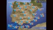 Previsión del tiempo para este jueves 11 de mayo