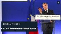 Législatives : 428 candidats investis par La République en marche