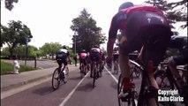 Un cycliste percuté par un drone en pleine course !!