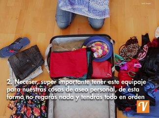 Cosas de viajes que no debes olvidar empacar