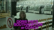 Southampton Cruise Terminal from Victoria Coach Station, Doris Visits