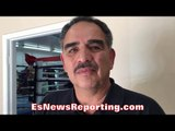 ABEL SANCHEZ: GOLOVKIN HARDER PUNCHER THAN KOVALEV - WORKED MITTS WITH BOTH EsNews Boxing
