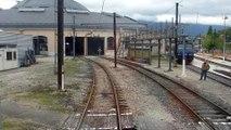 A bord de la CC 7102, entrée dans la rotonde de Chambéry.