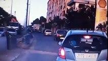 Taxi in Casablanca vlucht weg na ongeval (video)