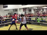 EPIC Pro Female Fighter Sparring A Kid  EsNews Boxing