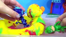 PJ MASKS Tub Bath Time olors, Giant Rubber Duck Superhero IRL Toy Surprise _