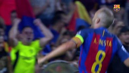 O Barça divulgou um vídeo com imagens inéditas de Iniesta nas categorias de base