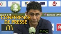 Conférence de presse Tours FC - Havre AC (0-4) : Gilbert  ZOONEKYND (TOURS) - Oswald TANCHOT (HAC) - 2016/2017
