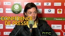 Conférence de presse US Orléans - Clermont Foot (2-2) : Didier OLLE-NICOLLE (USO) - Corinne DIACRE (CF63) - 2016/2017