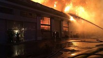 Five-Alarm Fire Engulfs Building Near Oakland