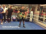 """GENNADY GOLOVKIN POSING WITH """"ALL THE BELTS"""" TEAM CHOCOLATITO & SPARRING PARTNERS - EsNews Boxing"""