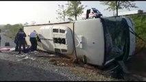 Muğla Faciasını Hatırlatıp Uyardılar, Kazadan Kurtulamadılar! Otobüs Devrildi: 20 Yaralı