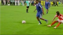 Watch As Ronaldinho Dribbles With His Presence!
