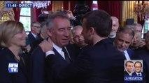 Face à Emmanuel Macron, Gérard Collomb ému aux larmes
