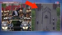 Un accident évité de justesse lors de la remontée d'Emmanuel Macron sur les Champs-Élysées