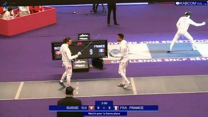 SNCF Réseau 2017 - Epreuve par équipes - Match pour la 5e place SUISSE-FRANCE