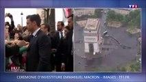 Emmanuel Macron embrasse le patron de la République en Marche en Dordogne