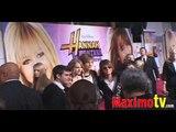 Hannah Montana: The Movie Premiere Arrivals Miley Cyrus, Demi Lovato, Emily Osment