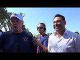 cowboys owner jerry jones invites Oscar De La Hoya to Training Camp EsNews Boxing