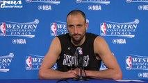 Manu Ginobili Postgame Interview | Spurs vs Warriors | Game 1 | May 14, 2017 | NBA Playoffs