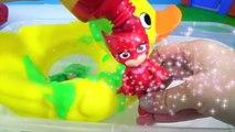 PJ MASKS Tub Bath Time Finger  bber Duck Superhero IRL Toy Surprise _ T