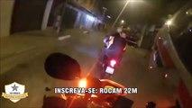 Motorcycle Police chases helmet cam Braz pilation 2017