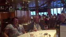 la croisière CL danse, premier repas à bord samedi