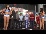 Paulie Malignaggi weigh in and faceoff