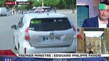 Nomination du premier ministre: Edouard Philippe poursuivi par les caméras jusque dans son taxi