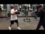 Mikey Garcia working mitts in ny with robert in new york - esnews boxing