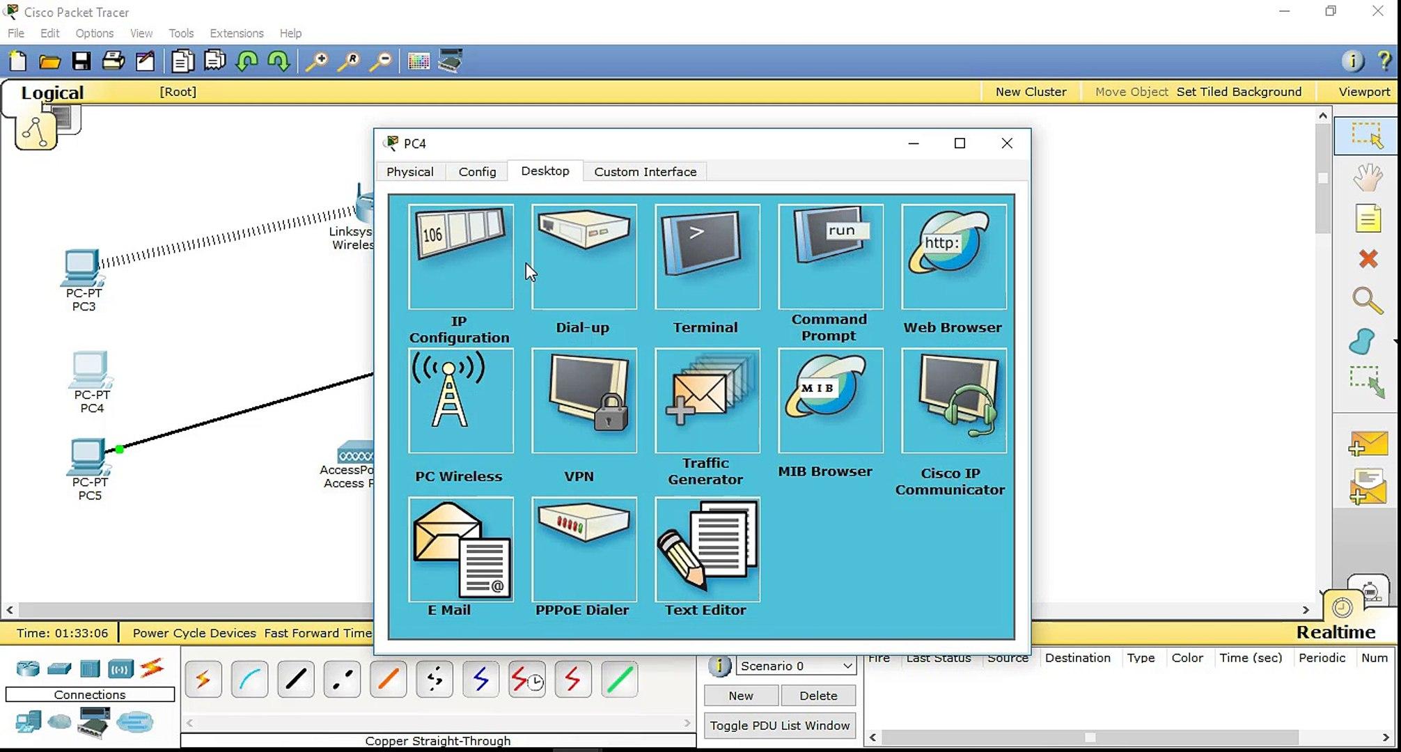 عمل شبكة لاسلكية واعداد الراوتر -Cisco Packet Tracer