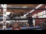 Mikey Garcia working mitts with Pita - EsNews Boxing
