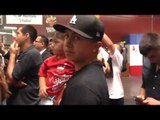 Mikey Garcia's little son and Pallo Garcia at Mikey's workout - EsNews Boxing