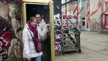 Disco ball in a telephone box_ Germany's smallest nightclubqwe123123