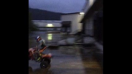 ATV Crash off wet loading dock