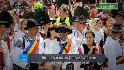Bistriţa-Năsăud în Cartea Recordurilor: cea mai mare mulțime de oameni îmbrăcați în costume populare, cel mai mare dans