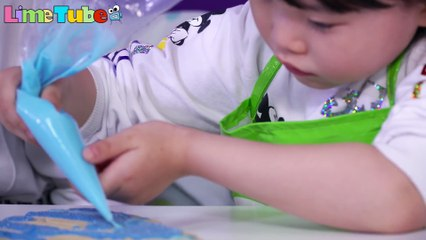 sugar cookie castle kit frozen | LimeTube 겨울왕국 엘사 과자집 만들기 장난감 놀이 라임튜브