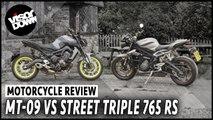 Yamaha MT-09 vs Triumph Street Triple 765 RS road test