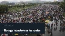 Blocage massif sur les grandes routes du Venezuela